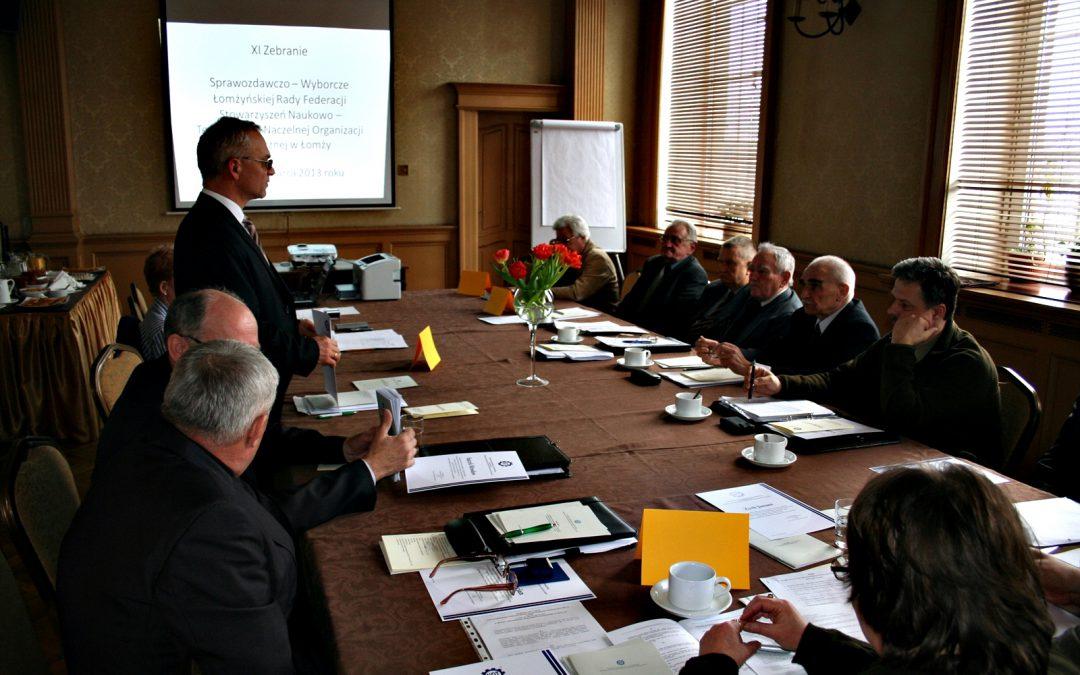 XI Zebranie Sprawozdawczo-Wyborcze Łomżyńskiej Rady FSNT NOT w Łomży