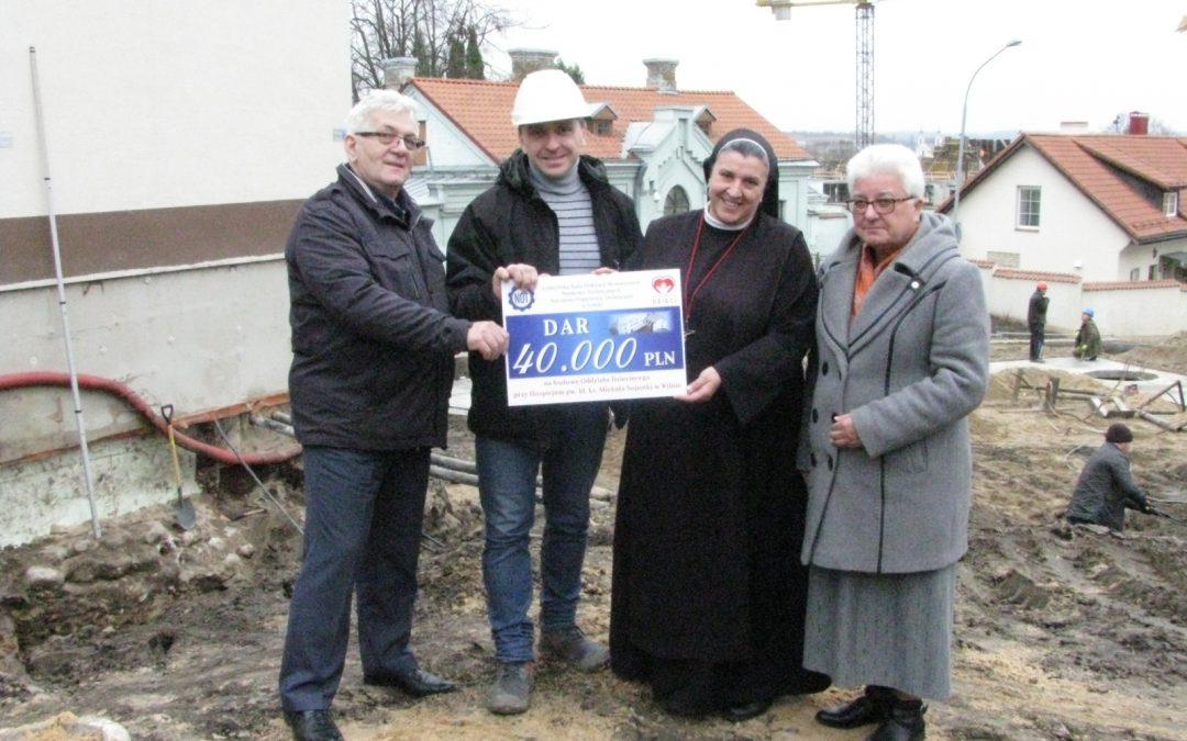 Zakończyliśmy zbiórkę charytatywną na rzecz rozbudowy Hospicjum w Wilnie.